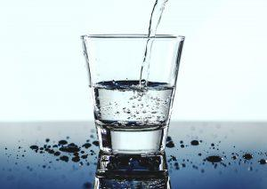 A glass of cold water does the job of refreshment